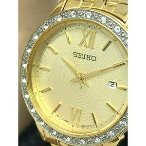 Seiko Women's Watch SUR688 Quartz Crystal Accent